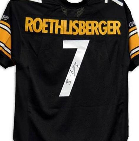 Ben Roethlisberger signed Pittsburgh Steelers jersey