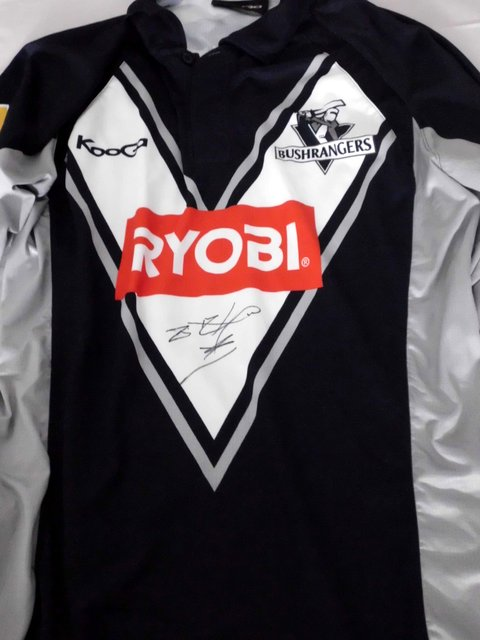 Fawad Ahmed Match Worn Personally Signed Bushrangers 2013 Ryobi One Day Cup Shirt