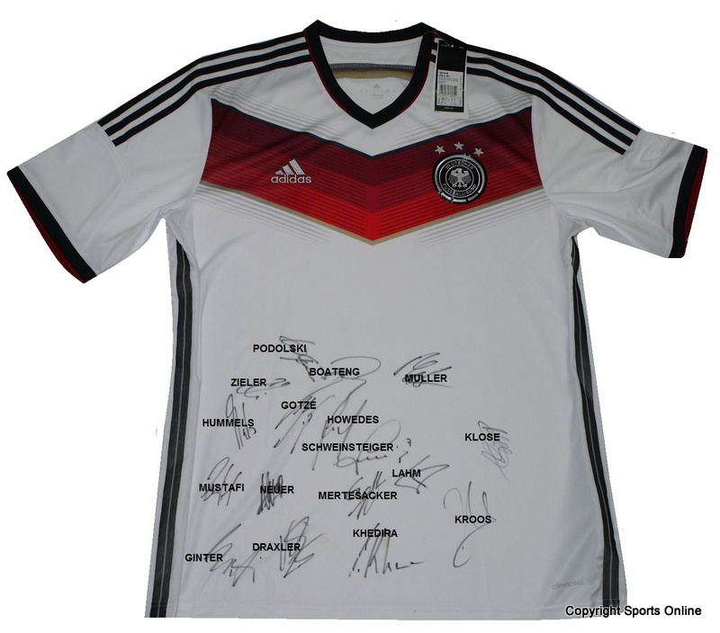 Germany 2014 World Cup Winners Jersey, Team-Signed