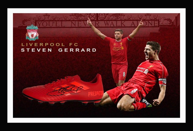 Steven Gerrard Personally Signed Adidas Boot