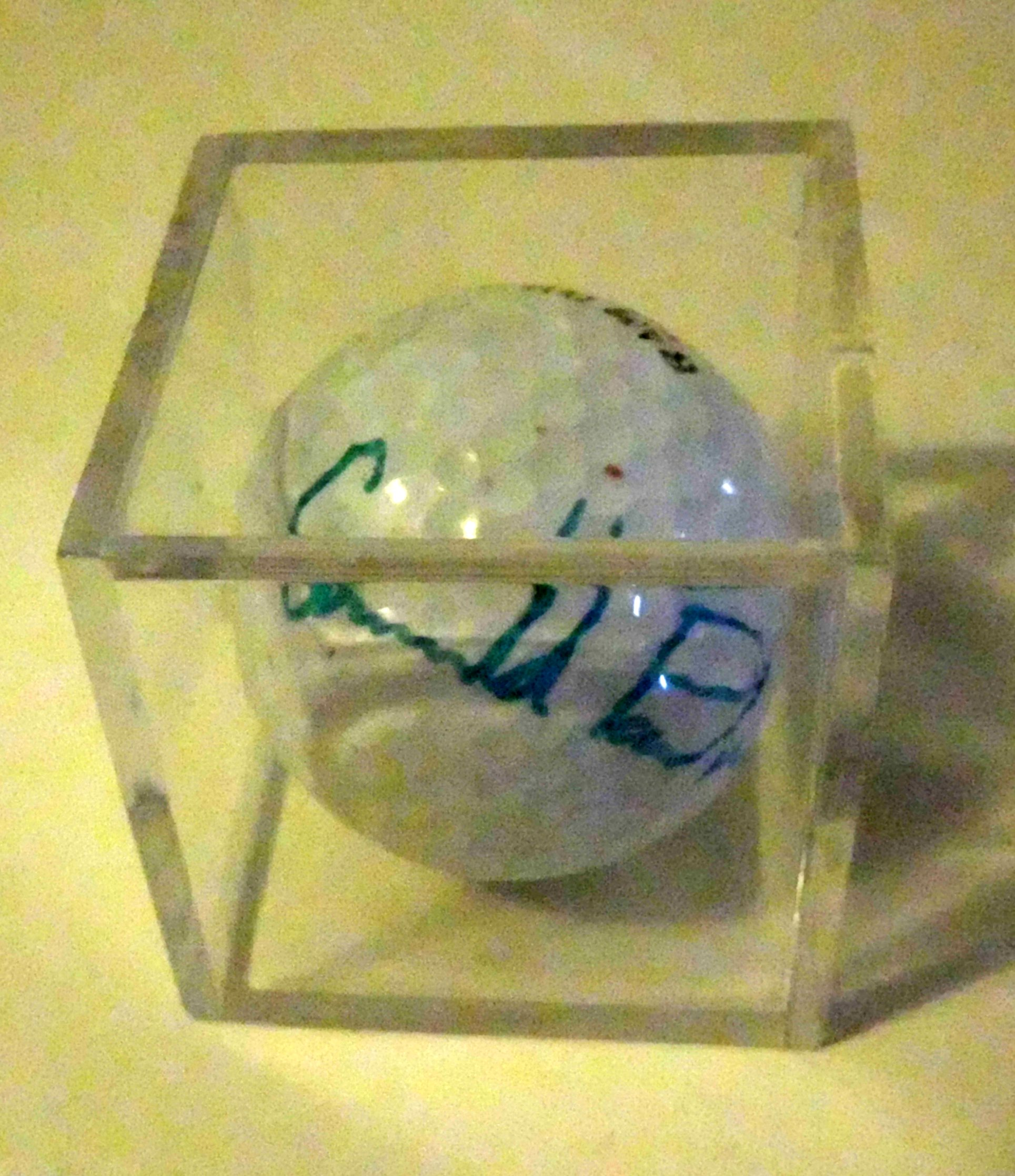 Arnold Palmer Hand-Signed Golf Ball, Cased