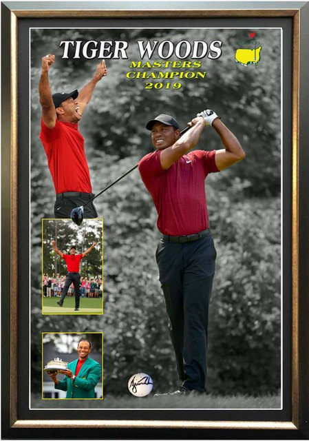 "Tiger Woods Personally Signed ""The Ultimate Comeback"" Golf Ball Display, Framed"