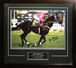 Octagonal personally signed by Darren Beadman, 1996 AJC Derby