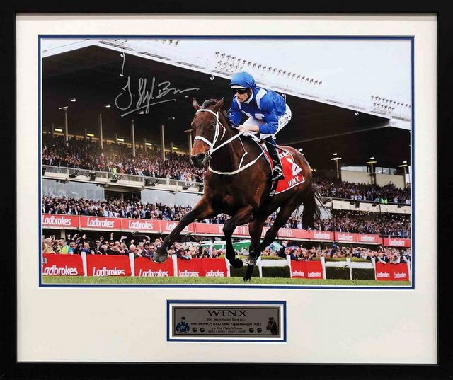 "Winx ""The Legend"" Personally Signed by Hugh Bowman, Framed"