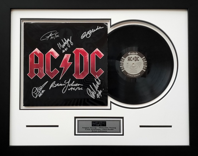 "AC/DC Personally Signed ""Black Ice"" Album, Framed - All 5 members of the great line-up!"