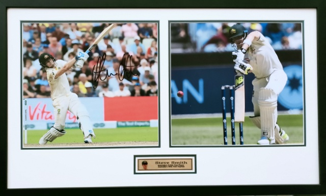 "Steve Smith ""Champions Series"" Signed Tribute, Framed"
