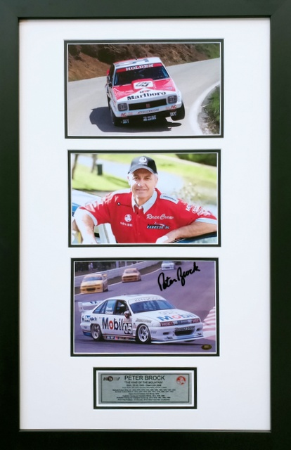 "Peter Brock Personally Signed ""Tribute to a Champion"", Framed"