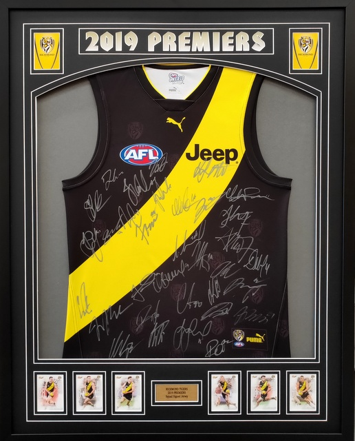Richmond Tigers 2019 AFL Premiers Signed Jersey, Framed - SPECIAL!