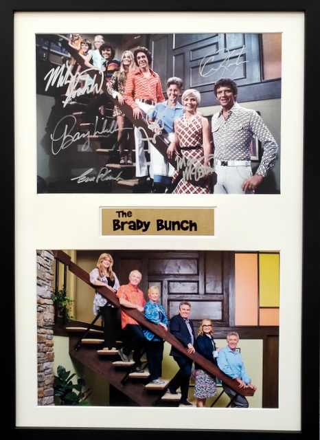 The Brady Bunch Tribute, Framed, Personally Signed by all 6 Kids!