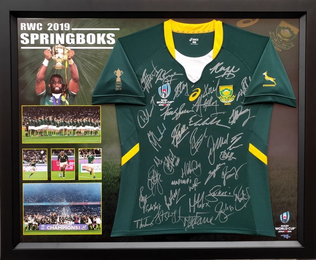 South Africa Springboks 2019 RWC Champions Squad Signed Jersey