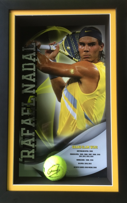 "Rafael Nadal ""Legends Series"" Personally Signed Career Tribute, Framed"