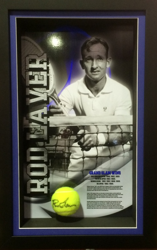 "Rod Laver ""Legends Series"" Personally Signed, Career Details, Framed - NEW RELEASE!"