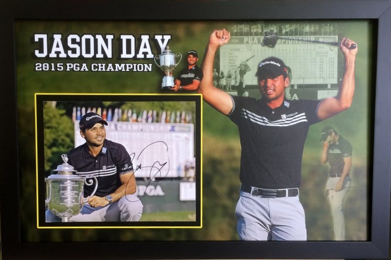 "Jason Day 2015 US PGA Champion Personally Signed ""Sweet"" Lithograph, Framed"