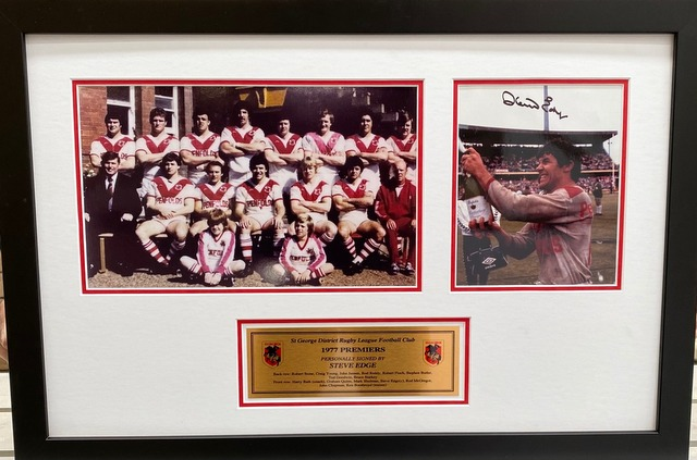 St George Dragons 1977 Premiers Personally Signed by Captain Steve Edge