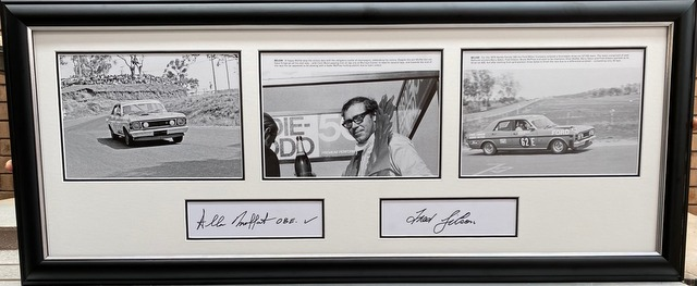 The Greatest Ford - The GTHO at Mount Panorama - Personally Signed by Allan Moffat and Fred Gibson, Framed