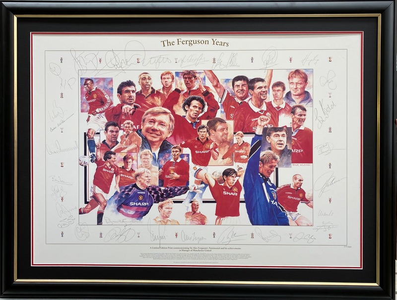 "Manchester United ""The Ferguson Years"" Personally Signed by 28 Legends, Ltd Edition"