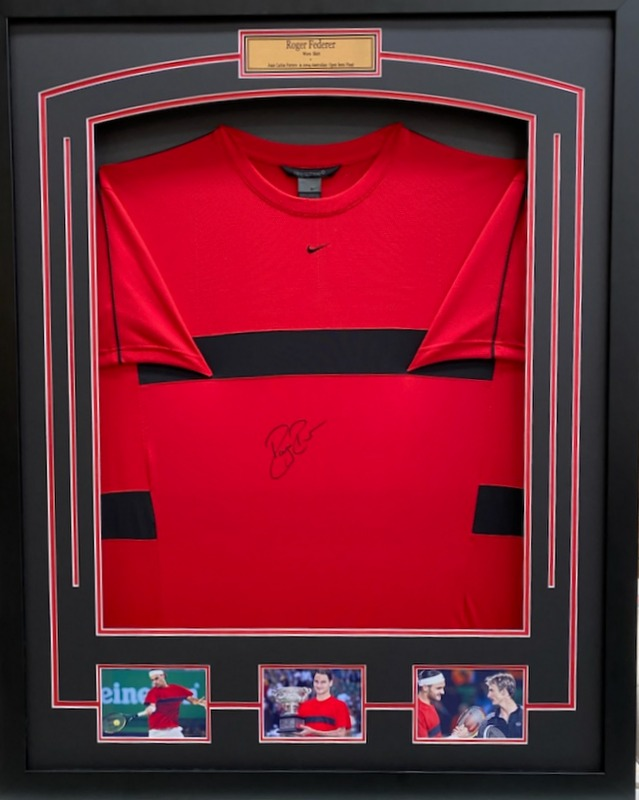 Roger Federer MATCH WORN and Personally Signed Shirt, Australian Open Semi Final 2004