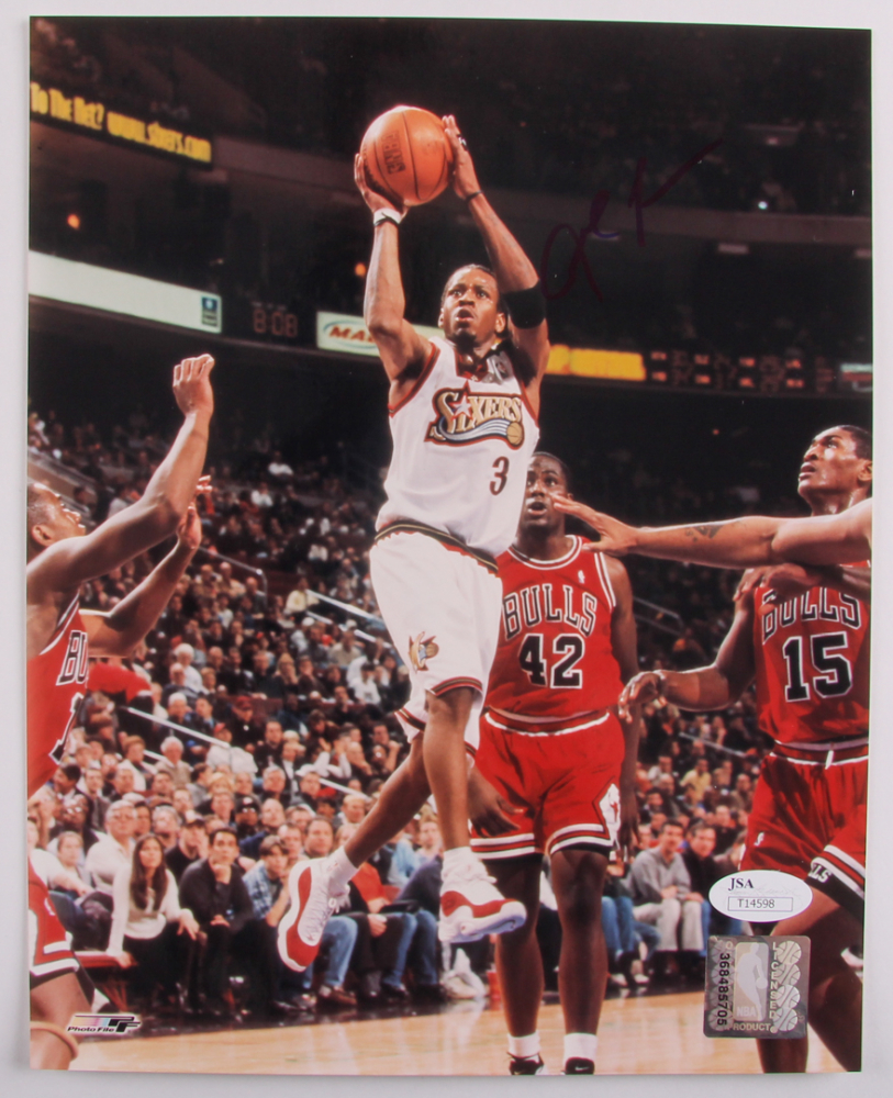 Allen Iverson Personally Signed 76ers Photo (JSA Cert of Authenticity)