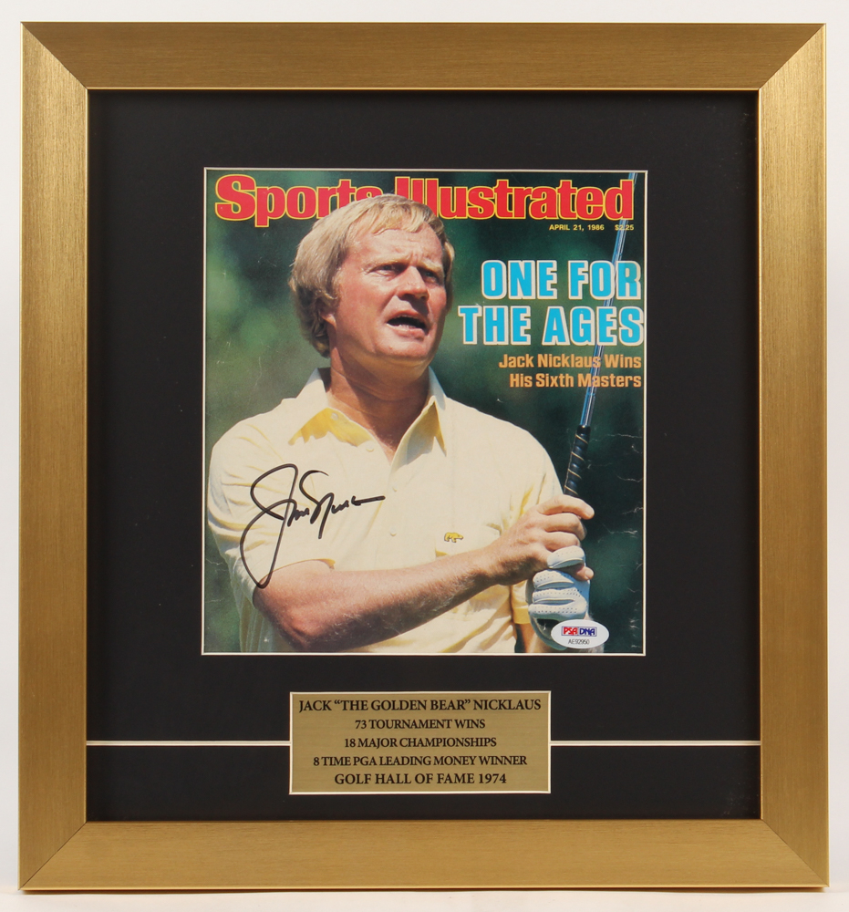"Jack Nicklaus ""The Golden Bear"", Personally Signed Sports Illustrated Cover, PSA/DNA Authenticity, Framed"