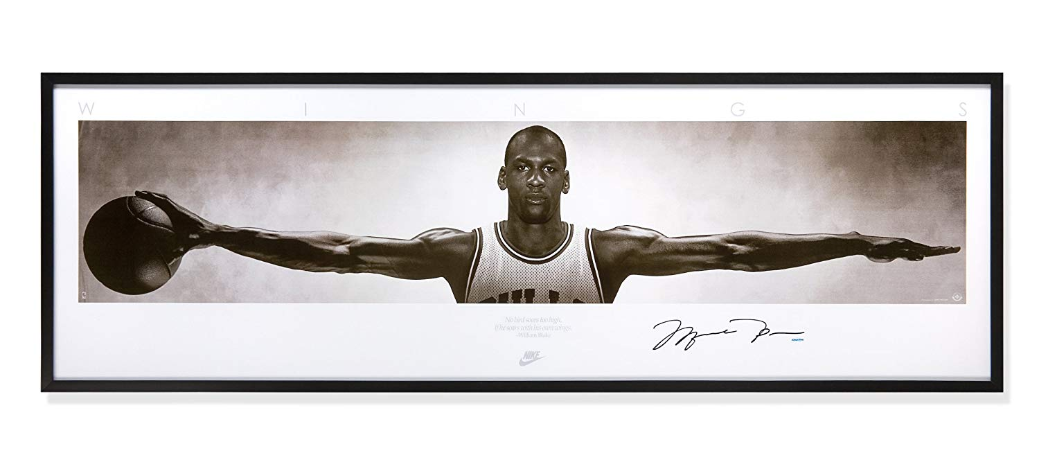 Michael Jordan personally signed Nike 'Wings', Framed, Fully Authenticated