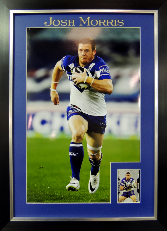 Josh Morris, Canterbury Bulldogs, Star Shot, Personally Signed, Framed