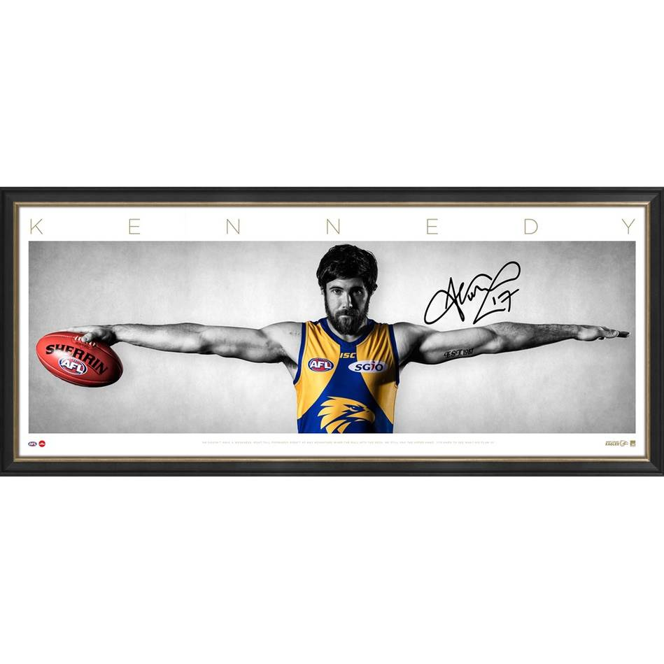 "Josh Kennedy West Coast Eagles Personally Signed ""Wings"" - 1.2 metres wide!"