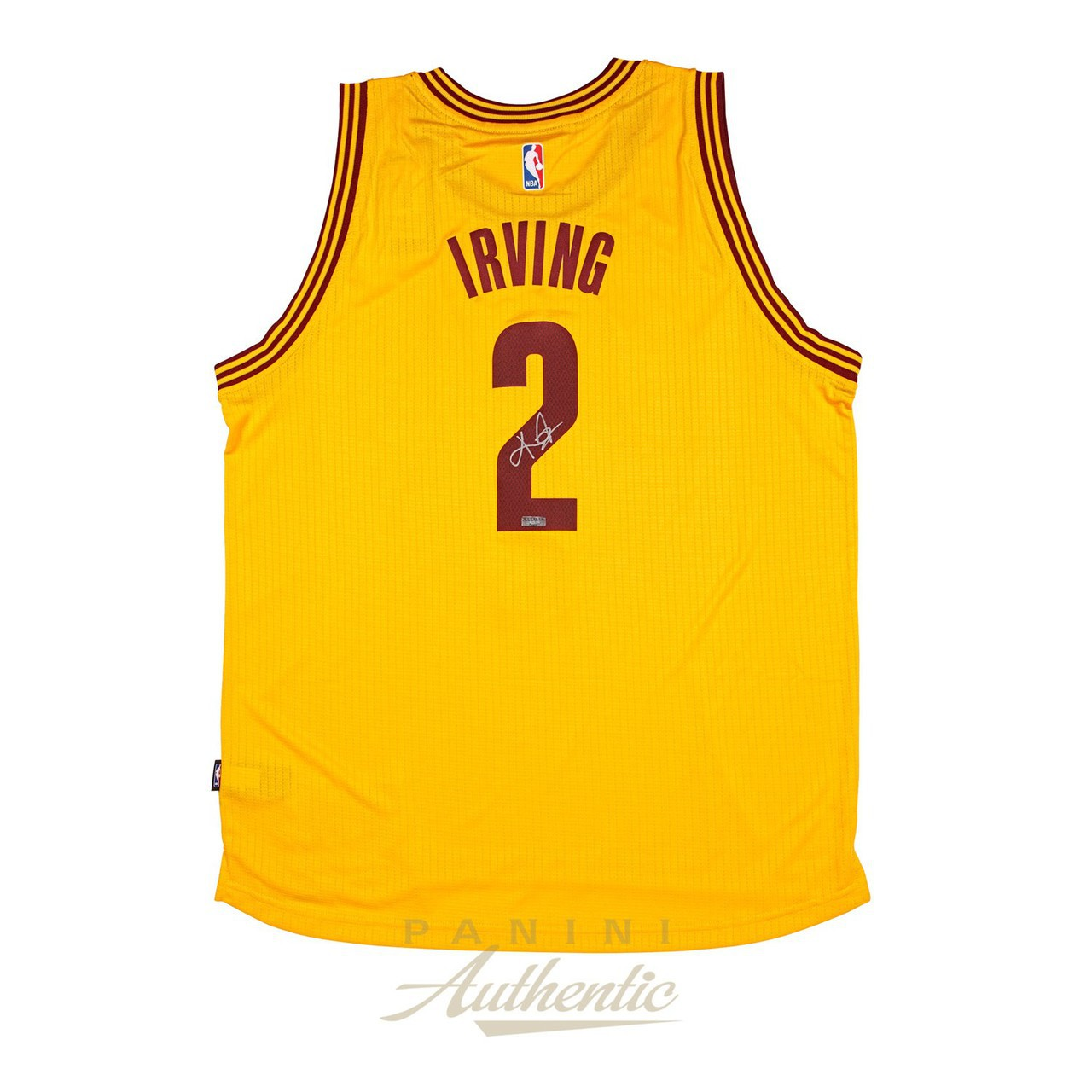 low priced 186a7 c74d3 Kyrie Irving Signed Cleveland Cavaliers Yellow Jersey