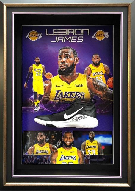 LeBron James Personally Signed Nike Shoe, Framed