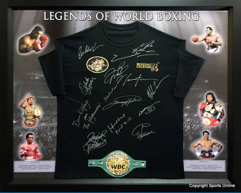 Legends of World Boxing - Ali, Tyson, Holyfield, Duran, Leonard, Pacquaio, Holmes and More, Framed