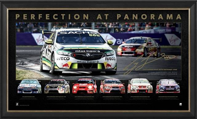 "Craig Lowndes ""Perfection at Panorama"" Tribute Sportsprint, Framed"