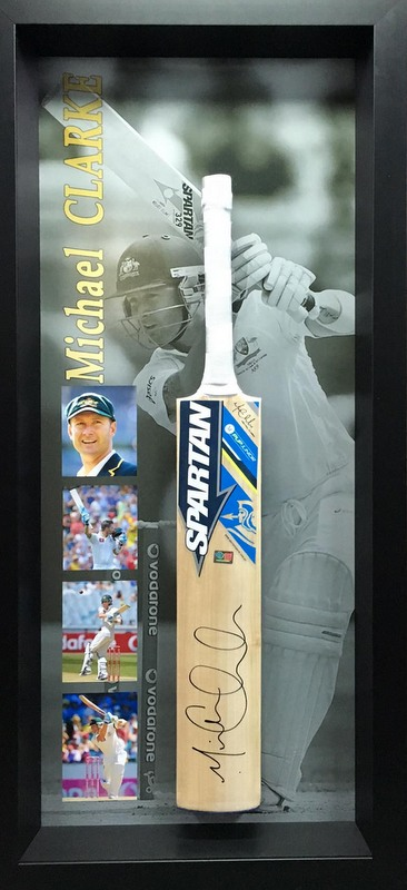 Michael Clarke Personally Signed Spartan Bat