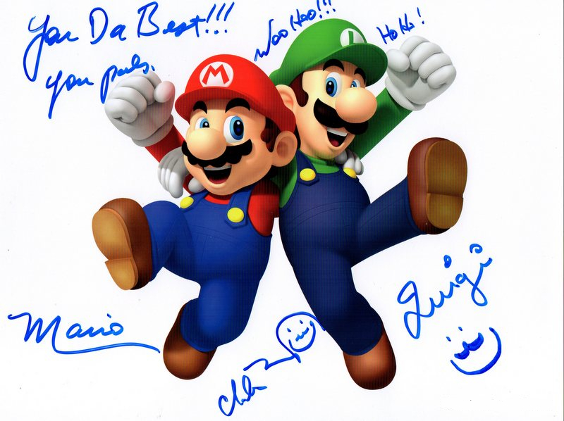 "Charles Martinet Hand Signed ""Super Mario Brothers"" Nintendo Photo"