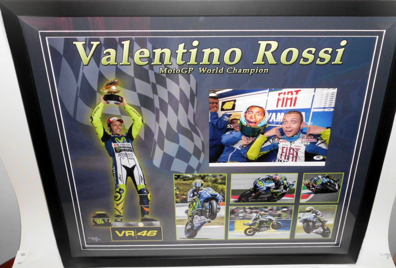 Valentino Rossi Personally Signed Photo and Career Montage, Framed V2