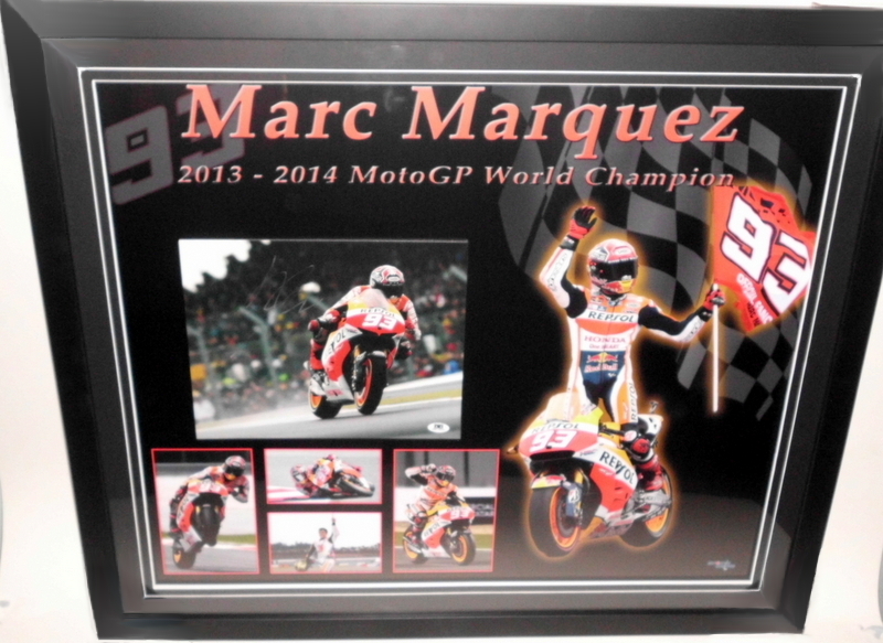 "Marc Marquez Personally Signed ""Champion"", Framed, v2"