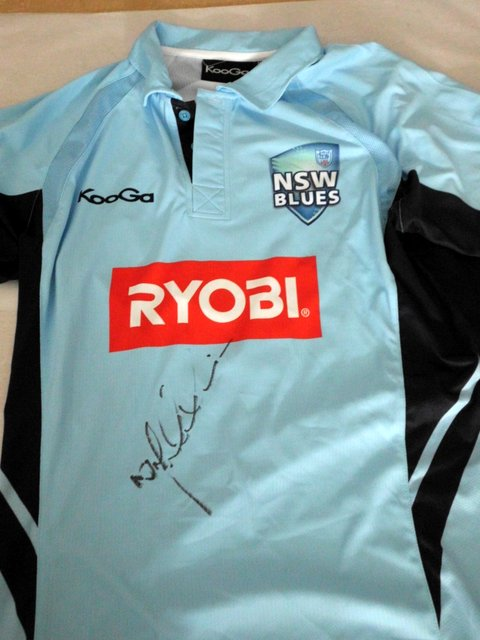 Nic Maddinson Match Worn Personally Signed NSW Blues 2013 Ryobi One Day Cup Shirt