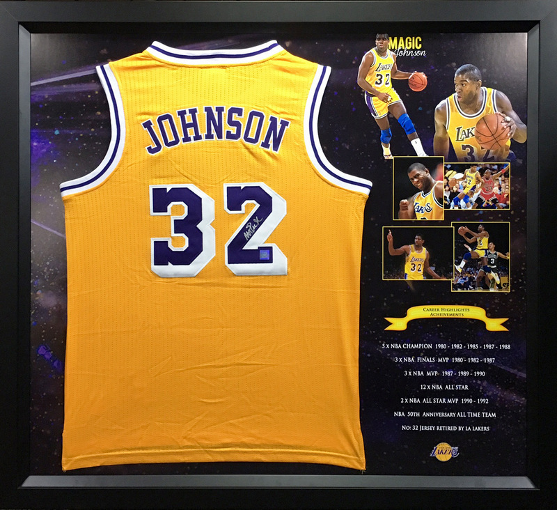 finest selection 1abb9 f2c4f Magic Johnson Personally Signed Los Angeles Lakers Home Jersey - SPECIAL!