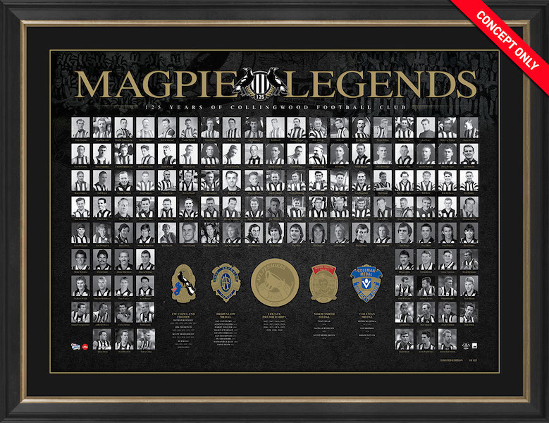 Collingwood Magpies 150th Anniversary Deluxe Sportsprint, Framed