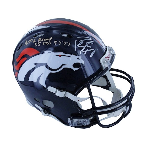 "Peyton Manning Personally Signed and Inscribed ""55 TD's 5477"" Speed Helmet - Limited to 118 in Edition"