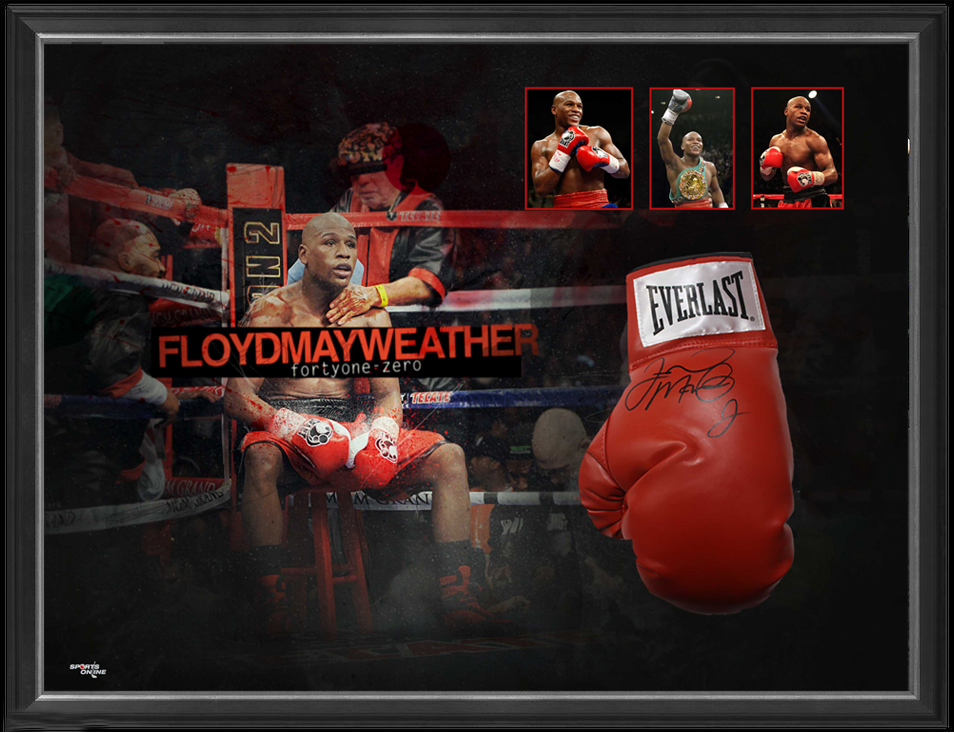 Floyd Mayweather Jr. Personally Signed Boxing Glove