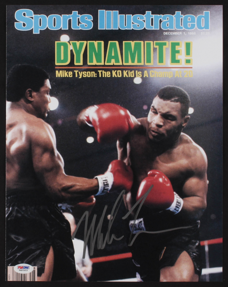 "Mike Tyson Personally Signed Photo, ""The KO Kid"""