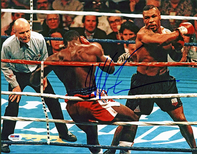 "Mike Tyson Personally Signed Photo, ""Massacre I"", Framed"