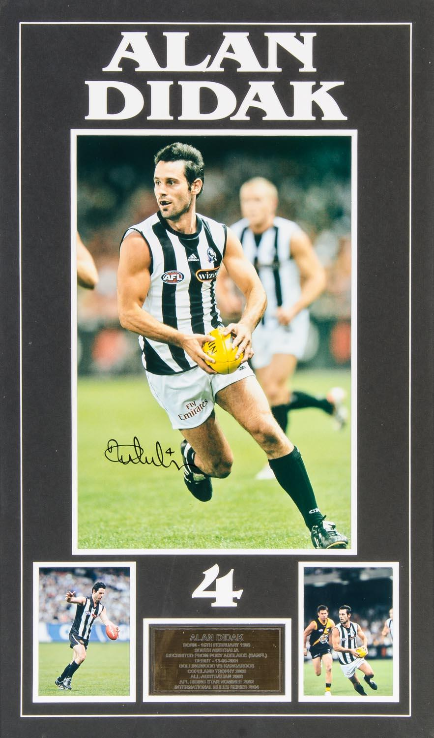 "Alan Didak Collingwood Magpies Personally Signed ""Career Celebration"", Framed"