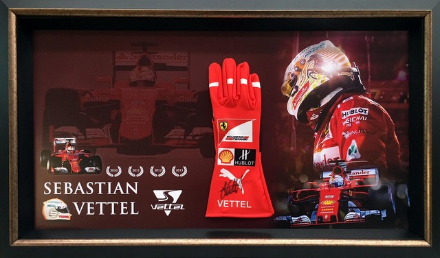 Sebastian Vettel Personally Signed Race Glove