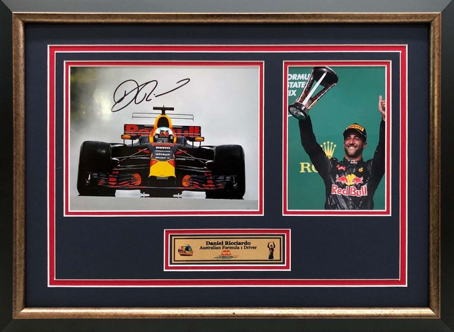 "Daniel Ricciardo Personally Signed ""Podium II"", Framed"