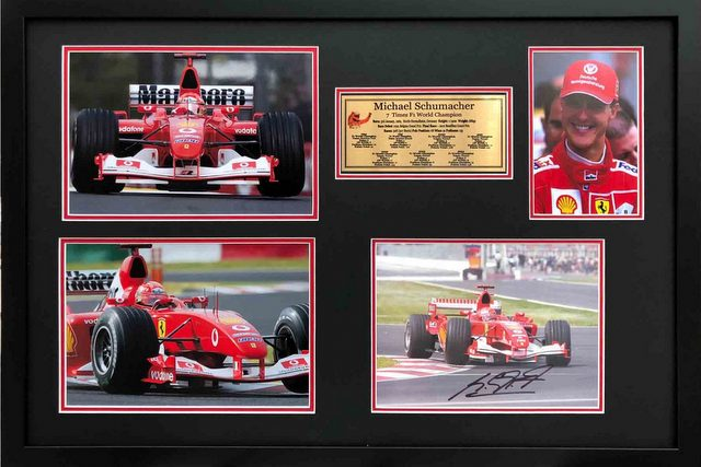 "Michael Schumacher ""Tribute to a Legend"" Personally Signed, Framed"