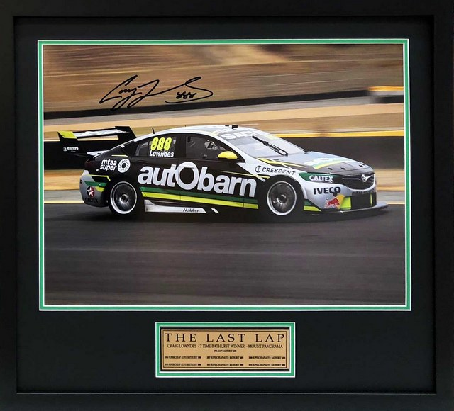 "Craig Lowndes ""The Last Lap"", Personally Signed, Framed - Superb!"