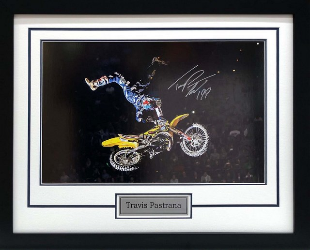 "Travis Pastrana Personally Signed ""Air Time"", Framed"