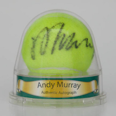 Andy Murray Personally Signed Tennis Ball in Display Dome