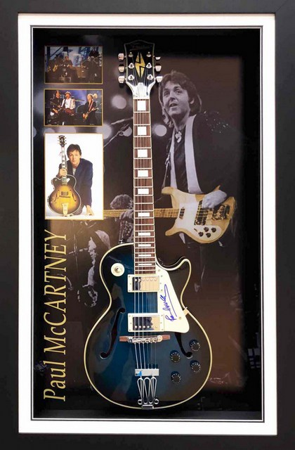 Sir Paul McCartney Hand Signed Guitar, Framed