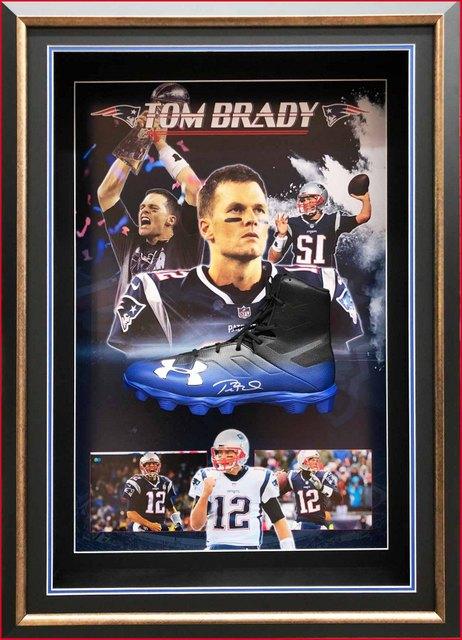 Tom Brady Personally Signed NFL Cleat, Framed